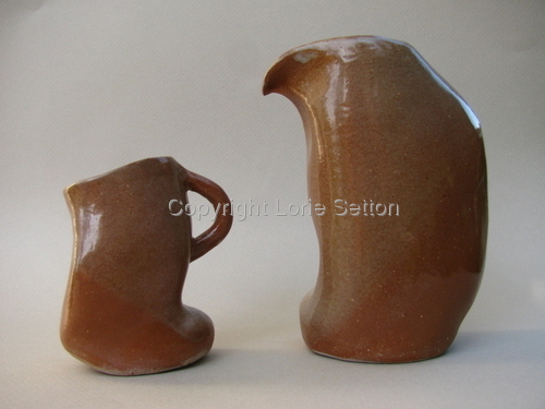 Curved Spine Cruet and Espresso Set, Clay (large view)