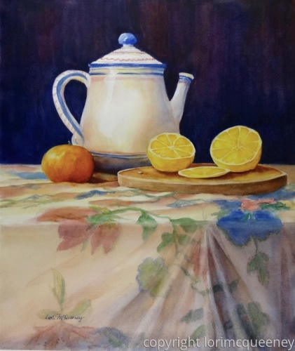 Teapot and Citrus