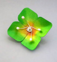 Green Flower Brooch or Pendant (thumbnail)