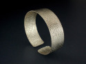 Textured,Silver Cuff Bracelet (thumbnail)
