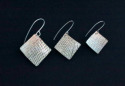 Sterling Silver Textured Earrings 3 sizes (thumbnail)