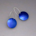 Dark blue polkadot earrings (thumbnail)