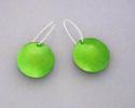 Green polkadot earrings (thumbnail)