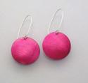 magenta polkadot earrings (thumbnail)