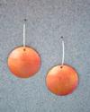 orange polkadot earrings (thumbnail)