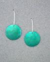 Turquoise polkadot earrings (thumbnail)