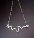 Doodle pendant on chain (deep doodle horizontal (thumbnail)