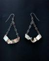 Silver Ribbon earrings/chain (thumbnail)