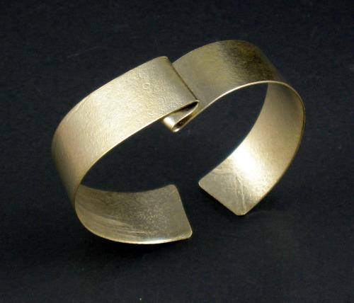Sterling Silver Cuff Bracelet, off center