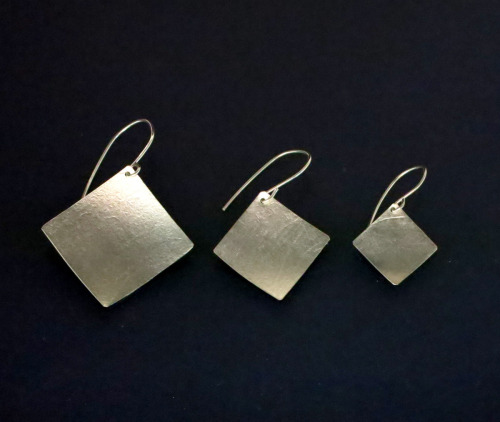 Sterling Silver Square Earrings 3 sizes