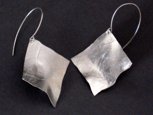 Sterling Silver PaperTextured Earrings