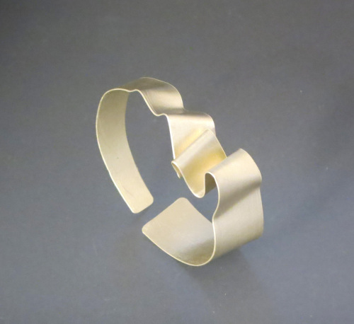 Silver Ribbon Cuff