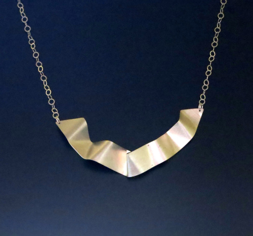 Silver Ribbon Necklace