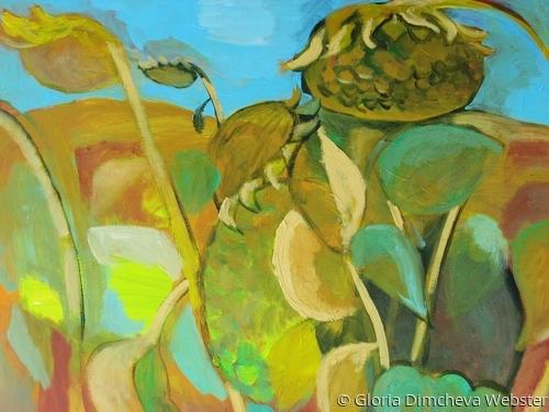 Sunflowers by Gloria Dimcheva Webster