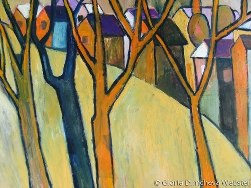 Bare Trees by Gloria Dimcheva Webster