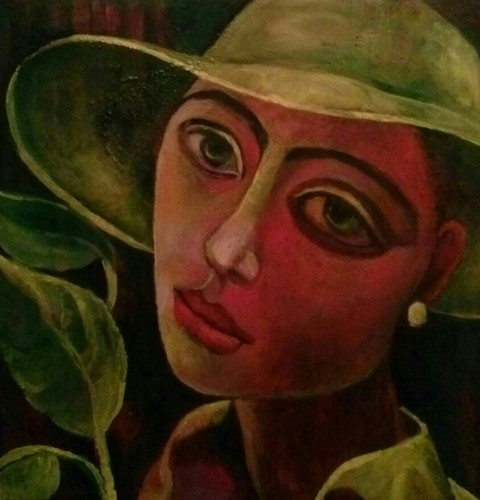 Girl in a Lime Hat