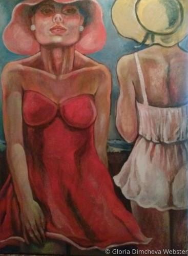Girls in Summer Dresses by Gloria Dimcheva Webster