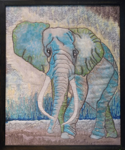 Elephant Inks on Silk  by Fiber Impressions