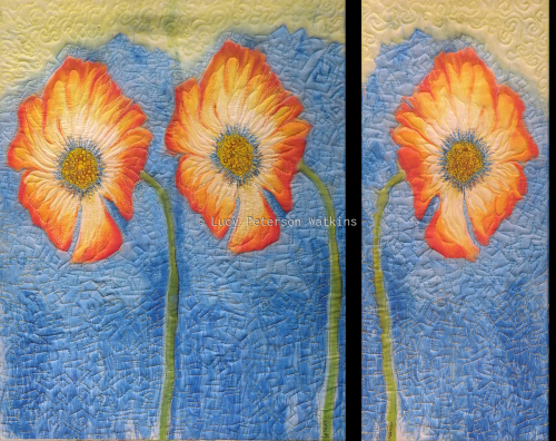 My Three Friends  Diptych by Fiber Impressions