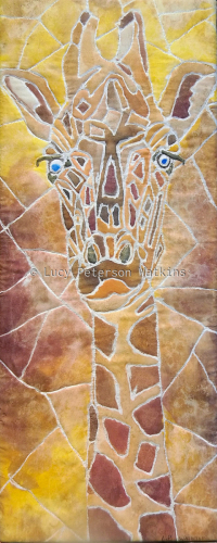 Giraffe Abstract on Silk