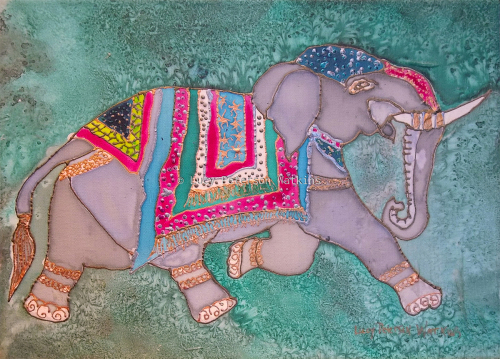 Elephant on Silk