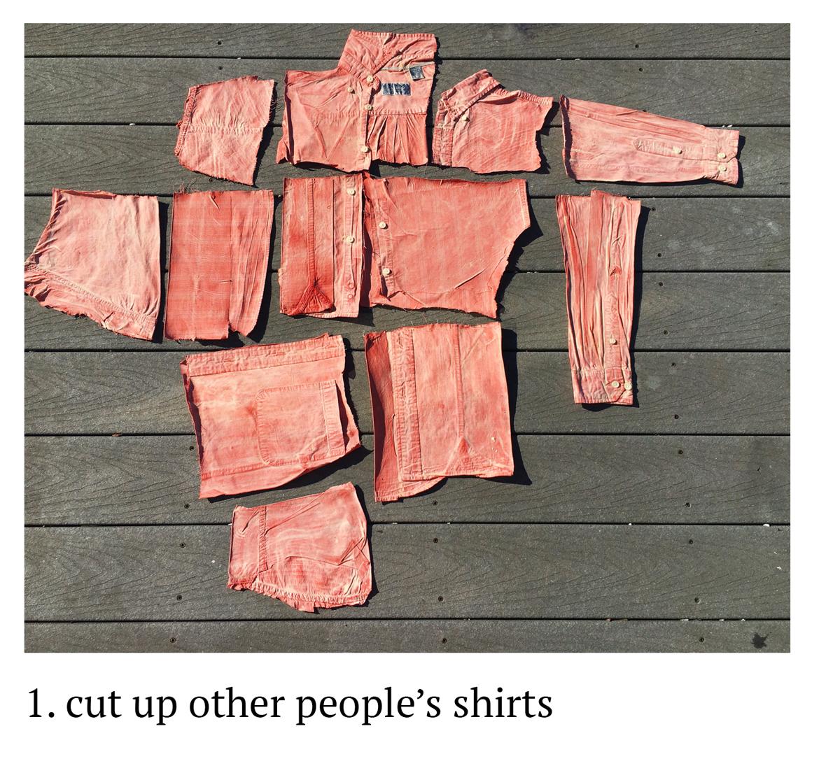 1. Cut up shirts (large view)