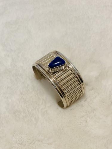 Corrugated Lapis Bracelet
