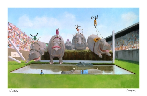Hippo Steeplechase by Leslie Sealey