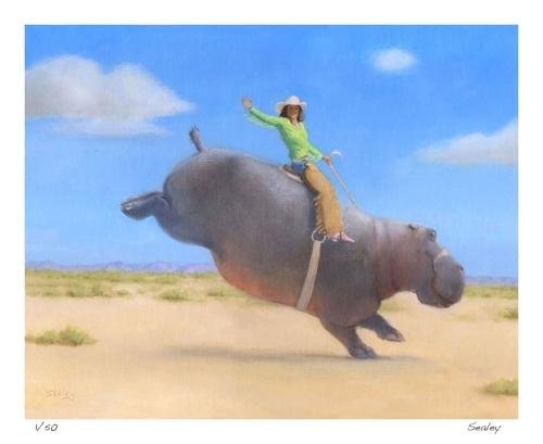 American Hippo Print
