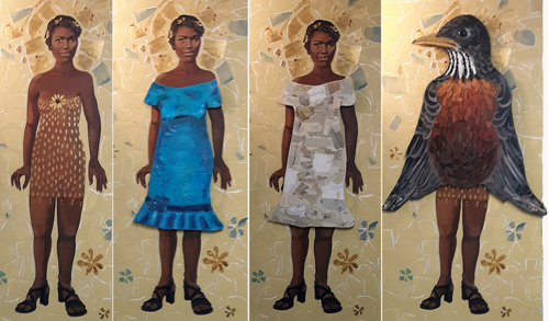Approach to Beauty (From the new Interchangeable series; Shown here are the 4 different ways the figure can be seen)