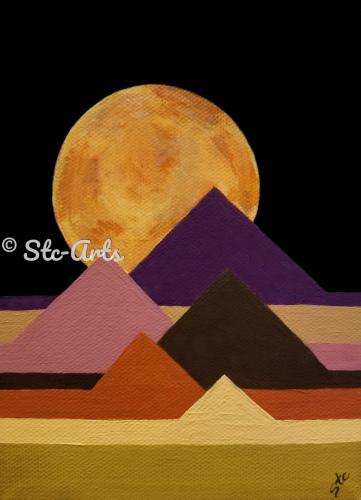 Moon over Pyramids