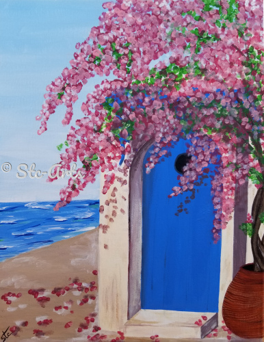 Blue Door at Sea by Stc Arts
