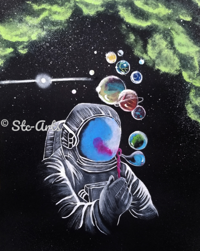 Blowing Bubbles by Stc Arts