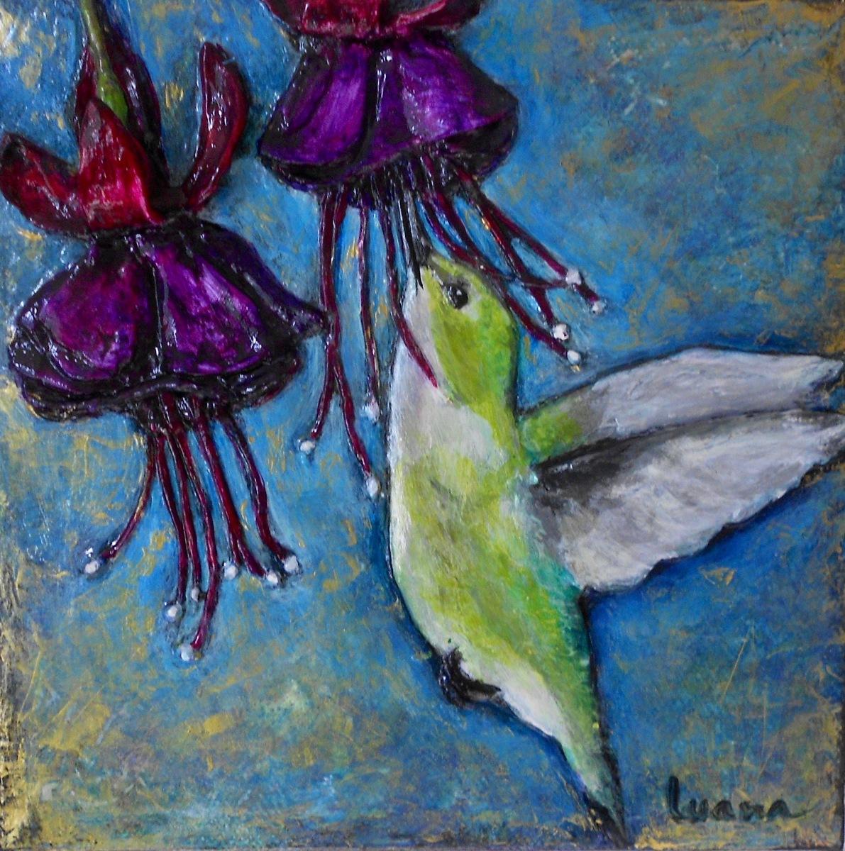 Hummingbird & Fuchsia (large view)