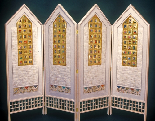 Power of Gold (Snow) Folding Screen