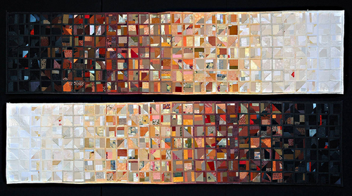 Sunshine Crazy Quilt Pair (2007)