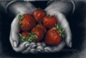 hands holding strawberries (thumbnail)