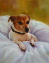 Oil painting of the artist Jack Russel - Rosie (thumbnail)