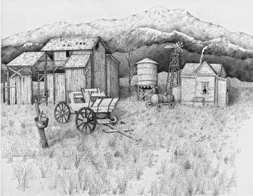 Abandoned Old farmhouse & Barn