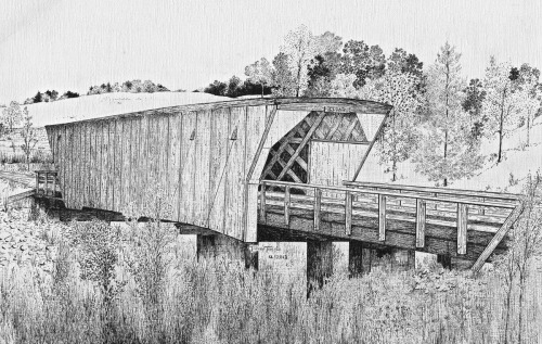 Cedar Covered Bridge by Tammie Temple
