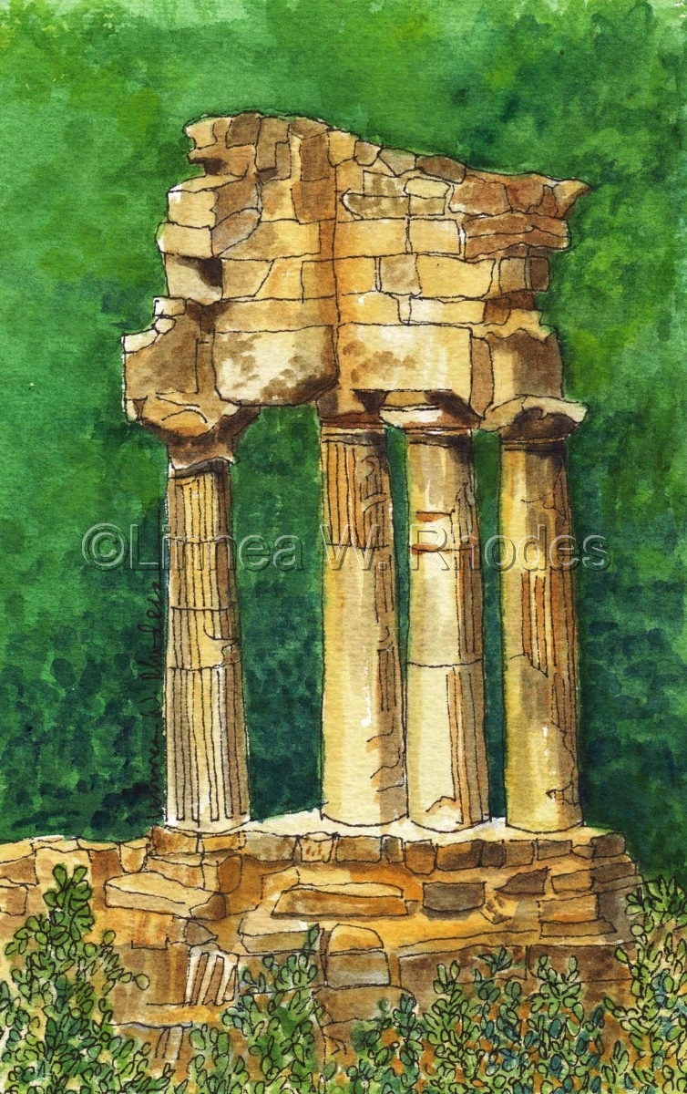 Temple of Castor and Pollux by Linnea W. Rhodes (large view)