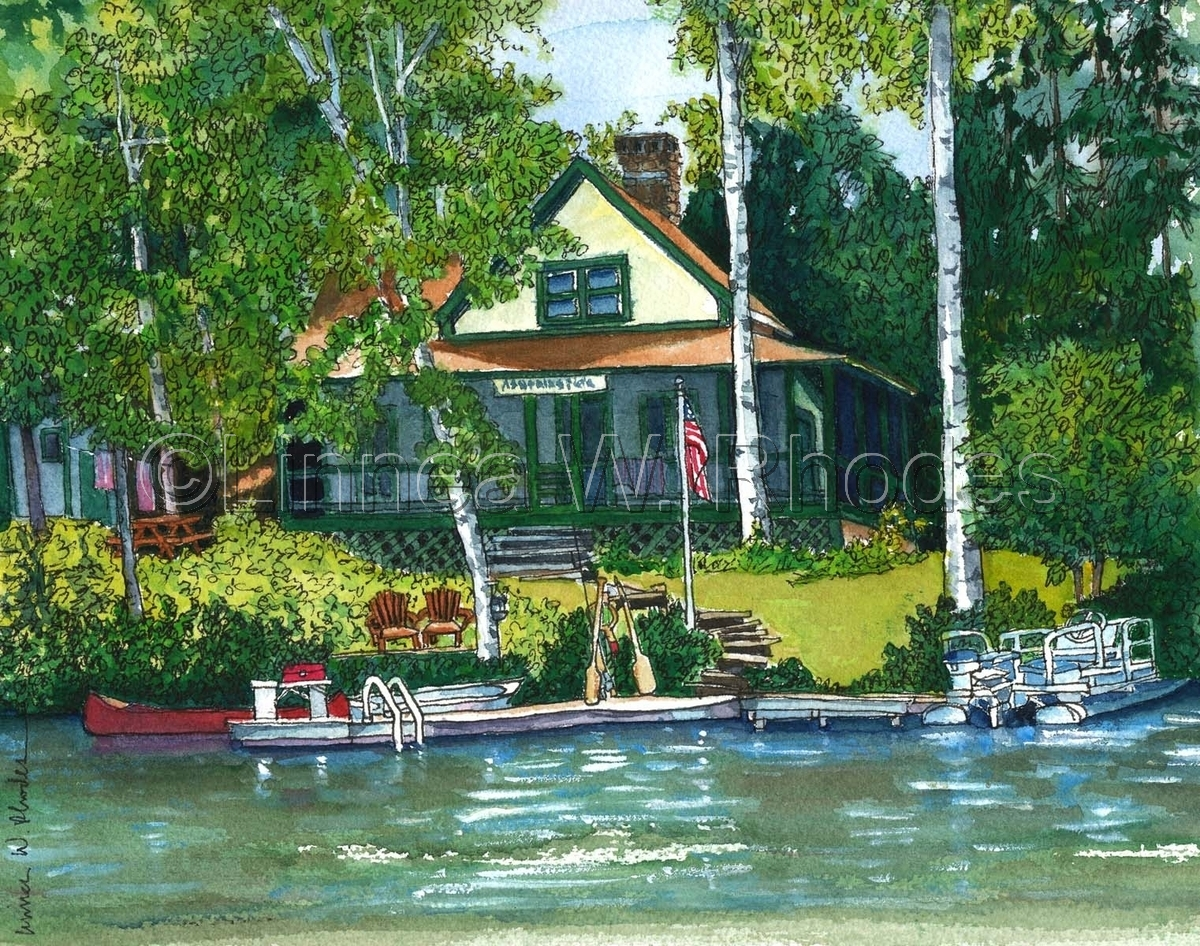 Painting Lake House Morningside Original Art By