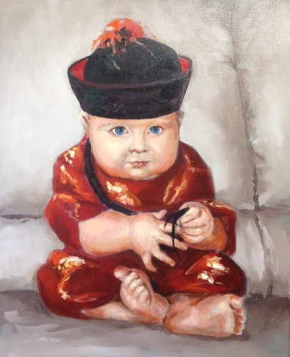 Baby Spencer in His Emperor's Suit