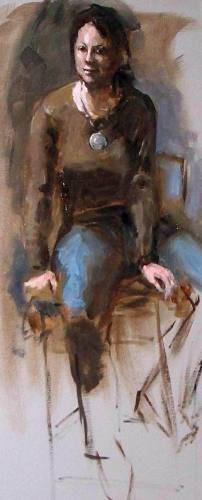 Life Study: Woman on a Stool