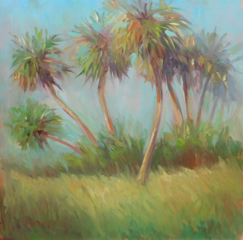 Dancing Palms II