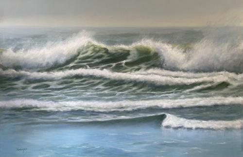 Morning Wave Action by Lynda  Kodwyck
