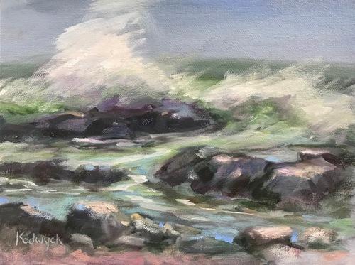 Storm at Sea; Rye, NH