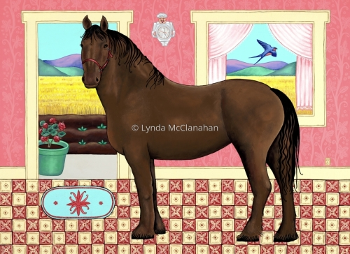 Horse in the Kitchen
