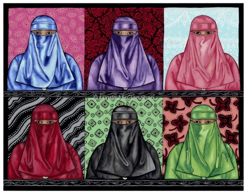 Niqabs With Wallpaper