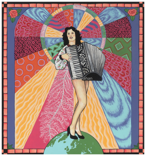 Lady With Accordion